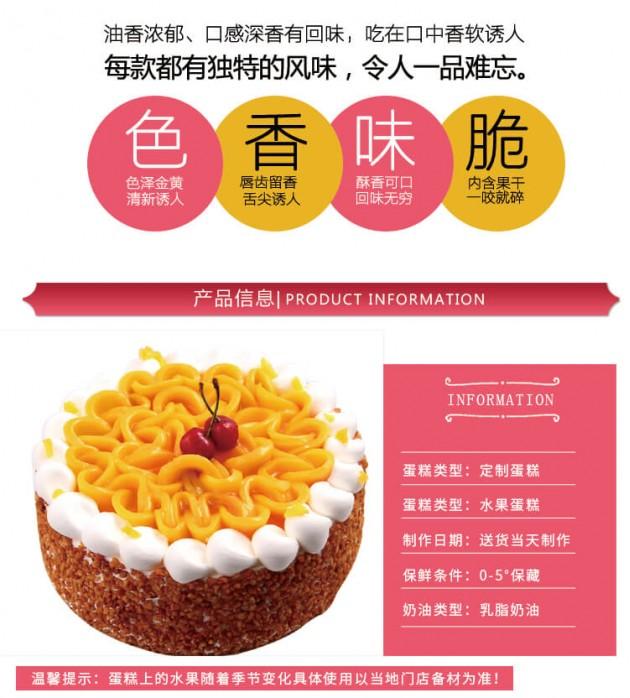 水果蛋糕细节展示