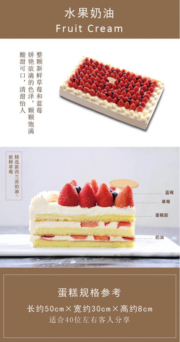 庆典水果蛋糕图片