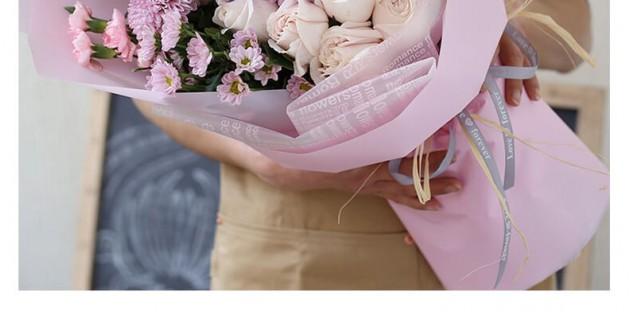 19朵粉雪山+1个绣球混搭花束图片