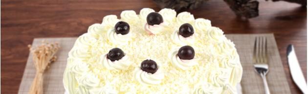 圣域雪莲奶油生日蛋糕图片