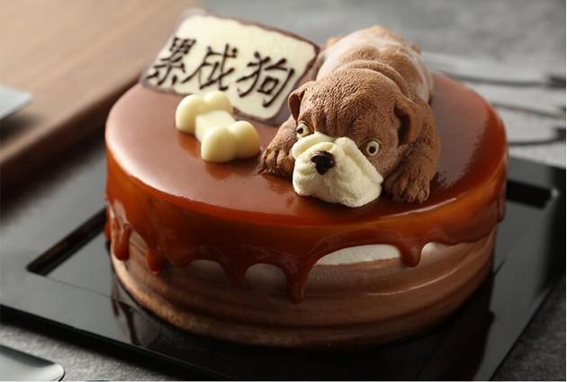 焦糖海盐奶油蛋糕图片