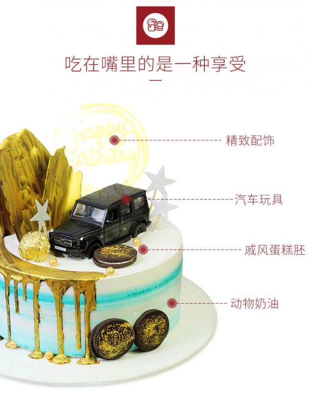 卡通汽车蛋糕细节展示