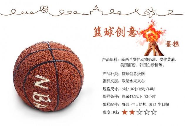 卡通NBA篮球蛋糕细节展示