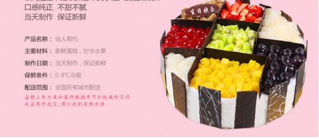 鲜花蛋糕组合蛋糕产品细节展示