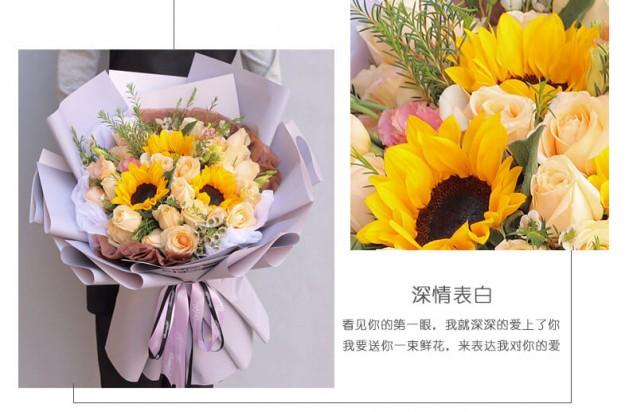 鲜花蛋糕组合鲜花图片展示