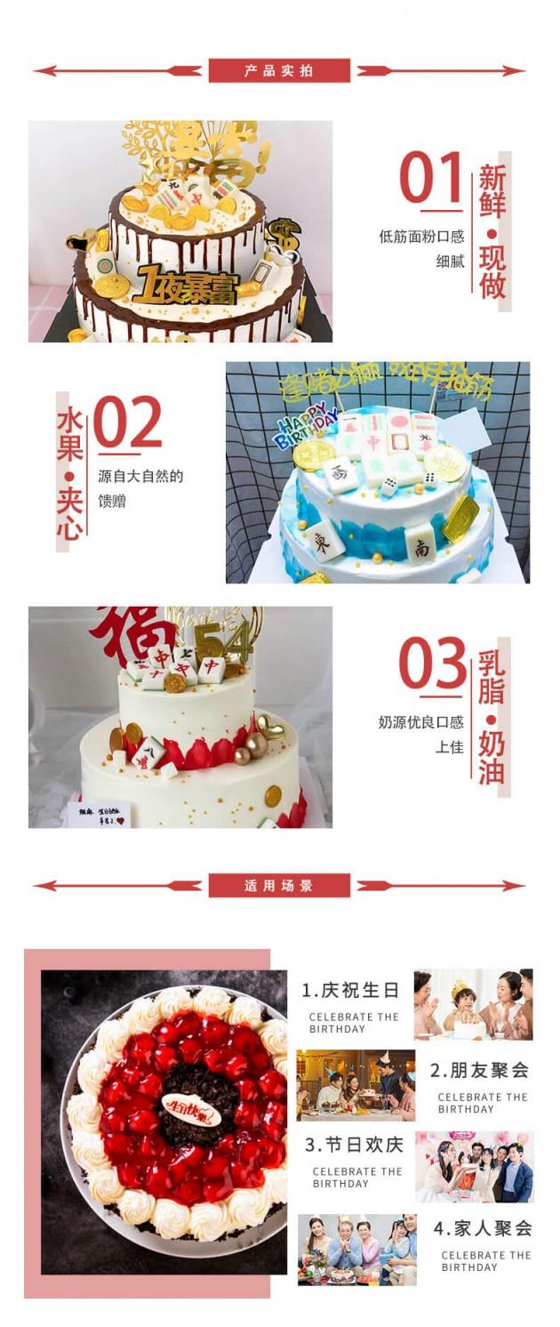 祝寿蛋糕产品实拍