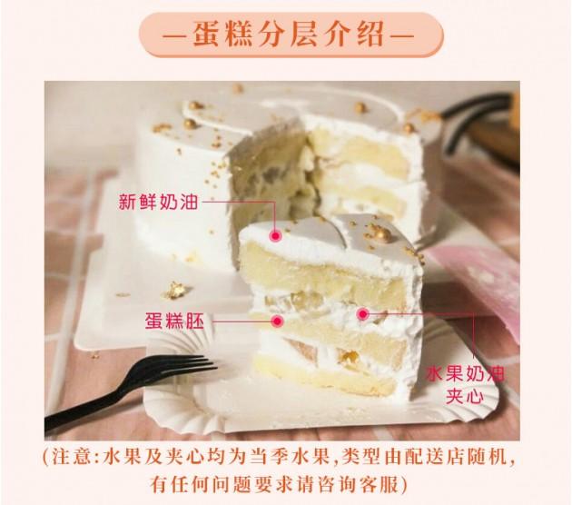 儿童生日蛋糕水果夹心分层